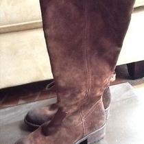Never Worn Brown Suede Franco Sarto Riding Boots Size 7.5 Photo