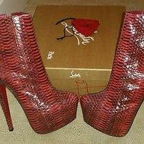 Never Worn Christian Louboutin Snake Skin Booties Photo