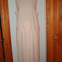 Never Worn Eileen Fisher 100% Silk Crepe Blush Pink Flowing Pants & Top Large L Photo