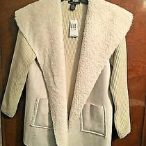 Never Worn Grace Elements Sweater Jacket- Xl- Winter White - So Soft & Warm Photo