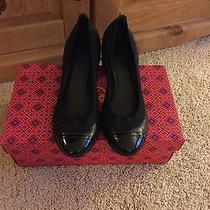 New 100% Authentic Tory Burch Carrie Quilted Black Leather Pump Size 6.5m Photo