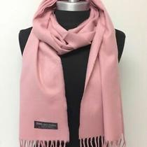 New 100% Cashmere Scarf Wrap Made in Scotland Solid Blush Soft Wool Wrap  Photo