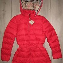 New 100 % Original Burberry Women Red Down Puffer Jacket Size Xxl ( It - 44 ) Photo