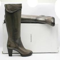 New 1063 Costume National Antique Taupe Cuff Boot 40/10 Photo
