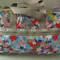 New 116 Rare Lesportsac Large Weekender Duffel Bag Confetti Flower 2211 D205 Photo