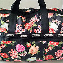 New 116 Rare Lesportsac Large Weekender Duffel Bag Royal Rose 2211 D242 Photo