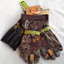 New 120 Under Armour Gore-Tex Mossy Oak 1231267-399 Camo Hunting Gloves Men's M Photo