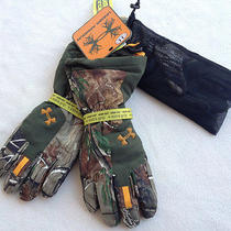 New 120 Under Armour Gore-Tex Realtree 1231267-340 Camo Hunting Gloves Men's Lg Photo