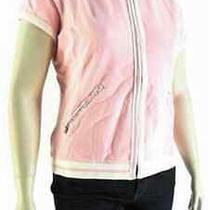 New128 Tommy Bahama Xl Pink Hoodie Short Sleeve Zip Pima Sweatshirt Jacket Photo