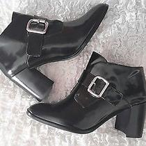 New 155 Jeffrey Campbell Urban Outfitters  Black Patent  Leather Heel Sz 8.5  Photo