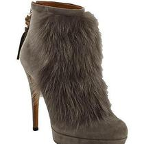 New 1590 Gucci Gray Suede & Rabbit Fur Bamboo Tassel Booties Boots 36.5 / 6.5 Photo