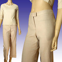 New 160 Stretch Linen Dress Pants 10 by Susan Monaco in Blush Made in Usa Photo