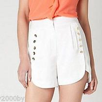 New 168 Anthropologie White Drum Major Dress Shorts by Leifsdottir Sz 10 Photo