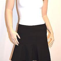 New 168 Theory Gida S Ameera Black Flared Fluted Hem Mini Skirt Sz 0  Photo