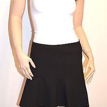New 168 Theory Gida S Ameera Black Flared Fluted Hem Mini Skirt Sz 6  Photo