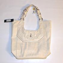 New 175 Womens Ed Hardy Faux Leather Large Tote Hand Bag Purse Off White Hobo Photo