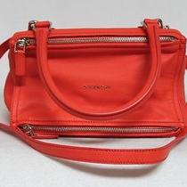 New 1750 Givenchy Small Orange Goat Leather Pandora Messenger Bag Photo
