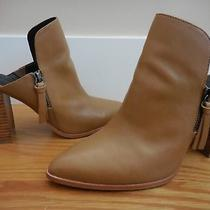 New 195rebecca Minkofftan Leather Aiden Bootie/boot mule8/8.5cool Zippernr Photo