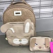 New 196-Weekend Special Betsey Johnson Kitcsh Bunny Backpack & Wristlet Photo