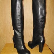 New 199 Aqua by Marc Fisher Womens Straight Up Tall Leather Boots 8 M Black Photo