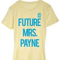 New 1d One Direction Juniors Teens Girls mrs.payne Yellow Graphic Tee T-Shirt Xs Photo