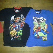 New (2) Boys Marvel Comics Cotton Superhero Spider-Man Long Sleeve T-Shirts Sz 7 Photo