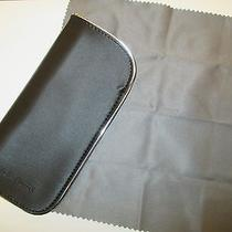 New - (2) Giorgio Armani Optical Cases  W/ Cleaning Cloth   Photo