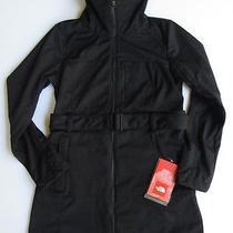 New 200 North Face 2014 Women Sashanna Softshell Jacket Wind Trench Black M Med Photo