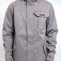 New 2014 Burton Poacher Snow Jacket Heathered Grey Men's Xl Photo