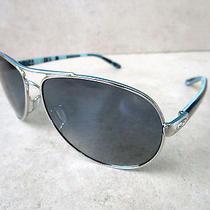 New 2015 Oakley Feedback Polarized Womens Sunglasses 4079-07 Silver Blue Aviator Photo