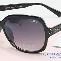 New 2016 Black Coach Sunglasses With Case and Cleaning Cloth 85 Photo