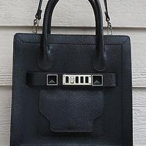 New 2050 Proenza Schouler Small Tote Crossbody Black Leather Photo