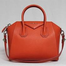 New 2280 Orange Givenchy Antigona Top Handle Small Goat Skin Leather Bag Photo