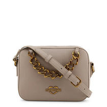 New 240 Love Moschino Crossbody Bag Gray Gold Logo Chain Small Shoulder Purse Photo