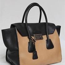 New 2400 Prada Pattina Natural Nero Glazed Calf Leather Tote Bag Photo