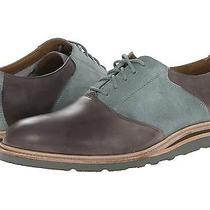 New 248 Mens Cole Haan Christy Wedge Saddle Oxford Size 8.5 - Grey Blue Suede Photo