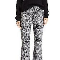 New 275 Rag & Bone Size 23 Hana Cheetah Leopard Cropped Jeans High Rise Gray Photo