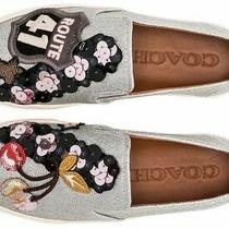 New 295 Coach Silver Route 41 Cherry Patches C115 Tennis Sneaker Shoes Size 10m Photo