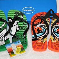 New 2pack Brazilian Genuine Havaianas Flip Flops Surf Kids  Us 1/2c -33/4 Rubber Photo