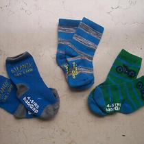 New 3 Pairs Gap Baby Sock 4/5 Years Bike/ Ocean Stripes Boy Loves Ocean Sports Photo