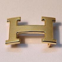 New 32mm H Hermes Belt Buckle Gold Dot for 32 Mm Wide Belts Photo