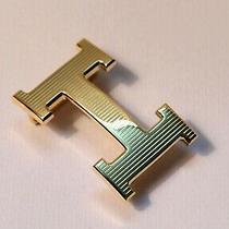 New 32mm H Hermes Belt Buckle Gold Stripe for 32 Mm Wide Belts Photo