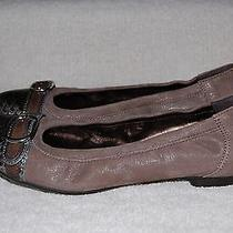 New 335 Agl Attilio Giusti Leombruni Ginger Croc Buckle Ballet Flat 10.5us/40.5 Photo
