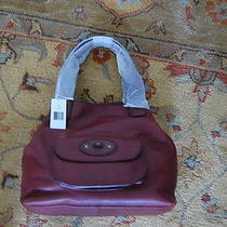 New 345 Ugg Brooklyn Tote Leather Mahogany Handbag Nwt Photo