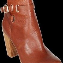 New 355 Joie Leather Ankle Strap Boots Booties 39 9 Easton Rag Cognac Boho Bone Photo