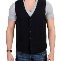 New 360 Costume National c'n'c Black Wool Stretch Casual Vest It48 / Us38 / M Photo