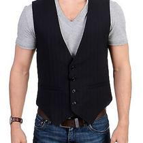 New 360 Costume National c'n'c Vest Black Striped Cotton Casual It50 / Us40 / L Photo