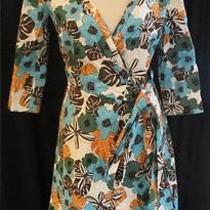 New 395 Escada Sport Floral Wrap Dress Size 34 Stretch Cotton Resort Wear 4 Photo