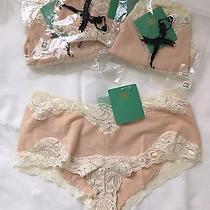 New 4 Pair Mary Green Women Panties Underwear Ecru Lace Trim S (Reg.18) Photo