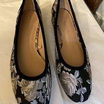 New 40 10 Black Floral Brocade Flats Zara Perfect Photo